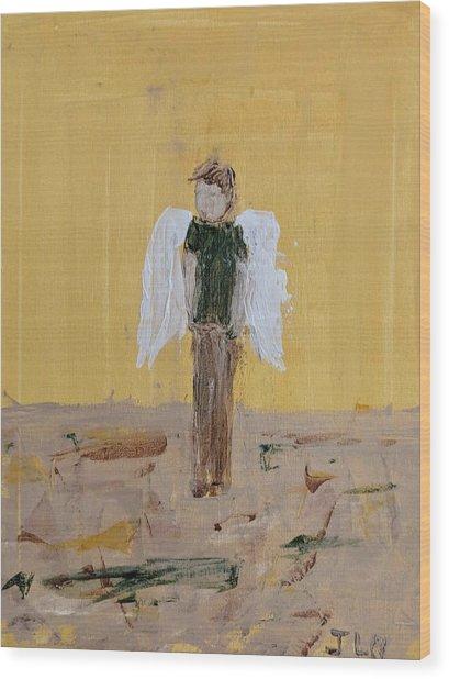 Whistling Angel Wood Print