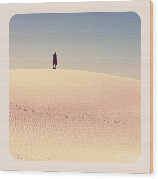 White Sands Park In Usa Wood Print