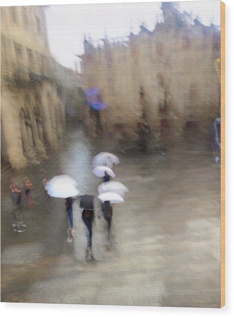 Wood Print featuring the photograph White Umbrellas by Alex Lapidus