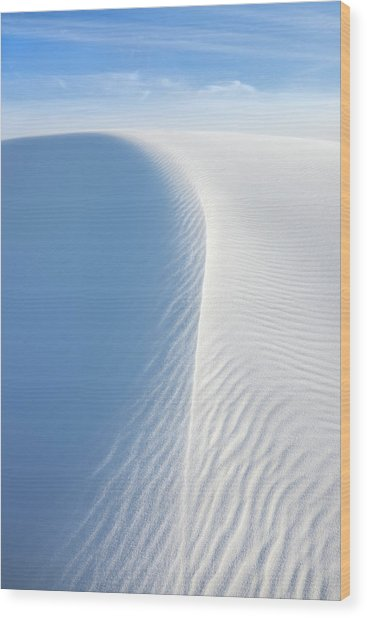 White Wave, White Sands National Monument Wood Print