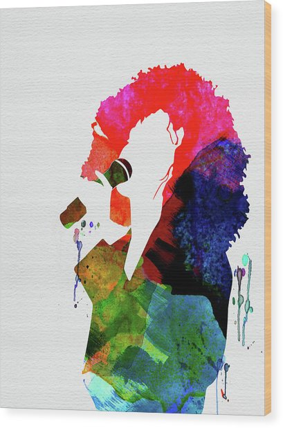 Whitney Watercolor Wood Print