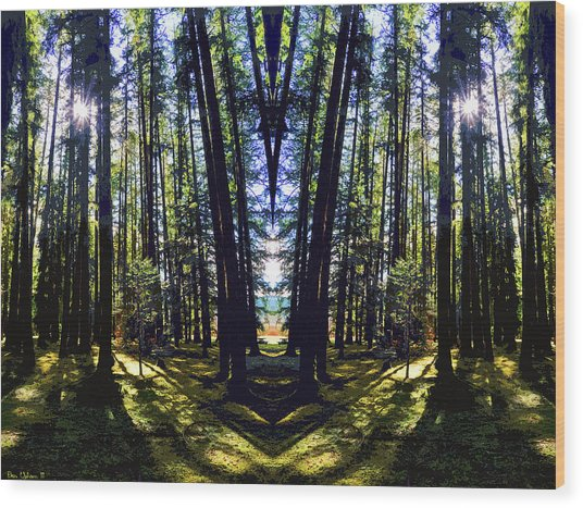 Wild Forest #1 Wood Print