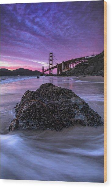 Wild Gate, Golden Gate Bridge Wood Print by Vincent James