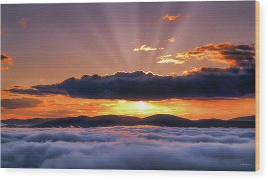 Wilderness Sunrise Wood Print by Leland D Howard