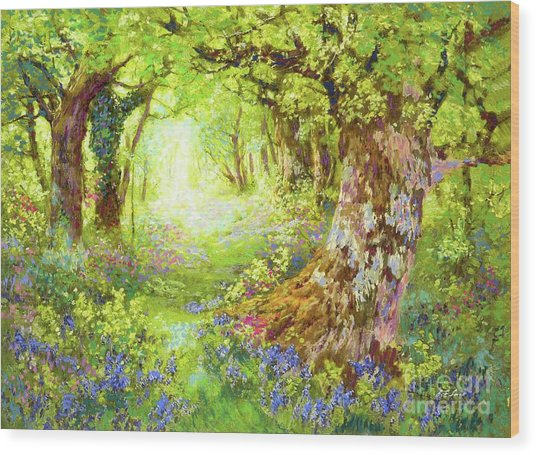 Wildflower Delight Wood Print