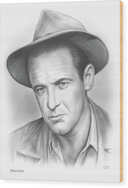 William Holden Wood Print