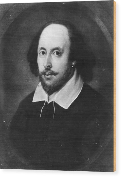 William Shakespeare Wood Print by Hulton Archive