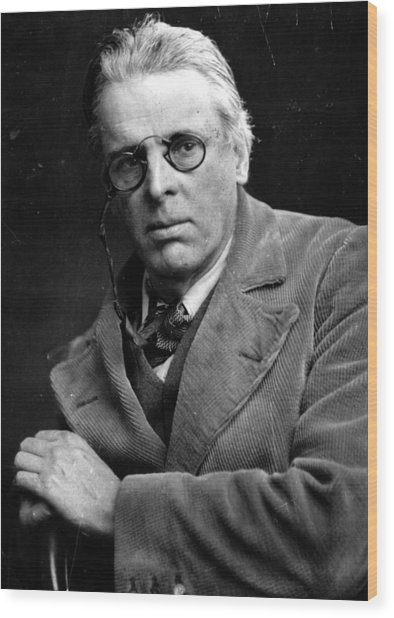 William Yeats Wood Print by Hulton Archive