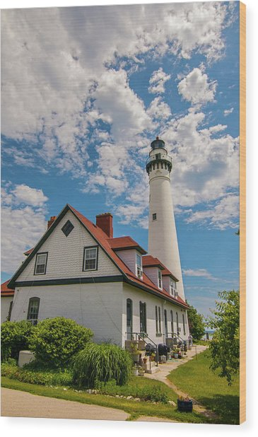 Wind Point Lighthouse No. 2 Wood Print