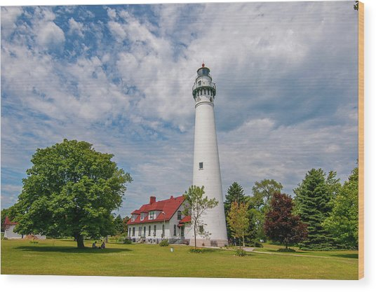 Wind Point Lighthouse No 3 Wood Print
