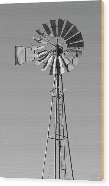 Wood Print featuring the photograph Windmill IIi Bw by David Gordon