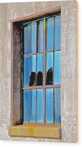 Window Wood Print by Gillis Cone