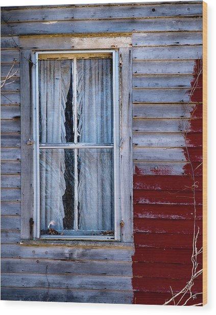 Window In Marlboro Wood Print