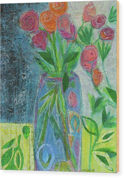 A-rose-atherapy Wood Print