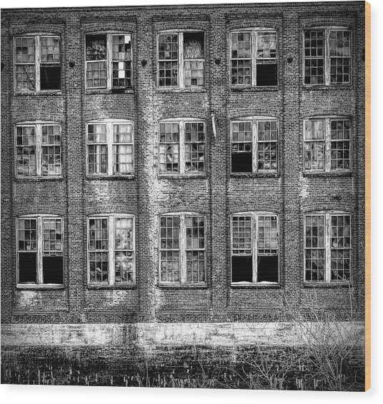Windows Of Old Claremont Wood Print
