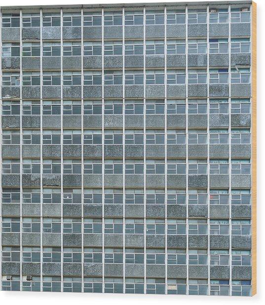 Windows Pattern Modern Architecture Wood Print