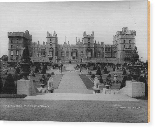 Windsor Castle Wood Print by London Stereoscopic Company