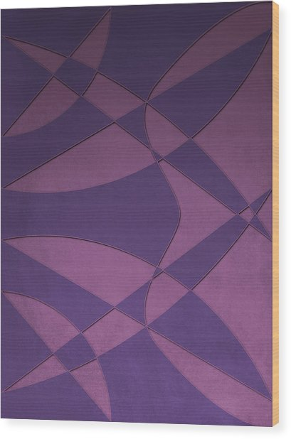 Wings And Sails - Purple And Pink Wood Print