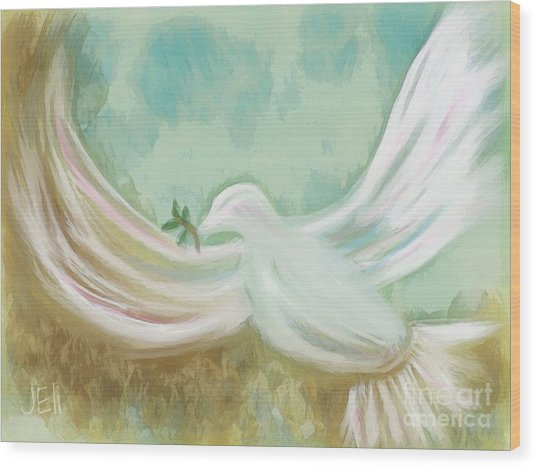 Wings Of Peace Wood Print