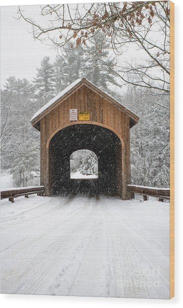 Winter At Babb's Bridge Wood Print