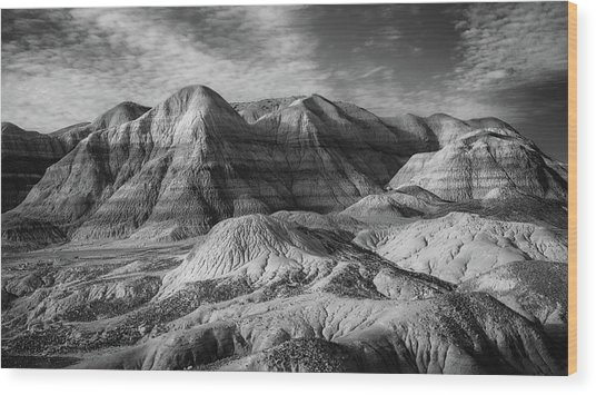 Winter - Blue Mesa Wood Print by Joseph Smith