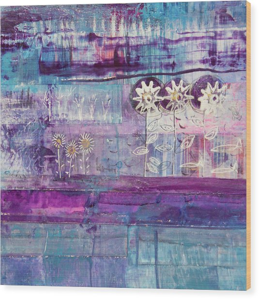 Winter Blues 2 Wood Print