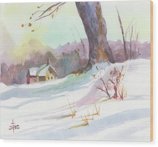 Winter Break Wood Print