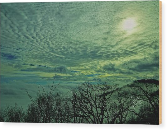 Winter Clouds Wood Print