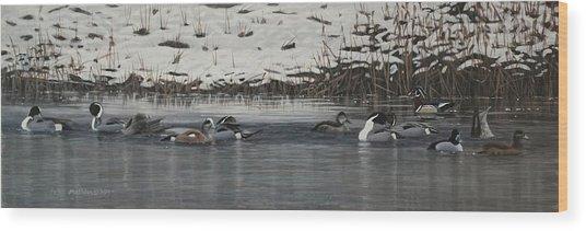Winter Flock Wood Print