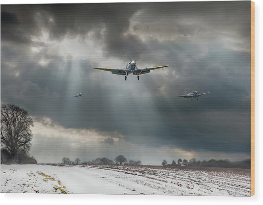 Wood Print featuring the photograph Winter Homecoming by Gary Eason