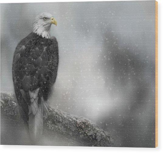 Winter Watcher Wood Print