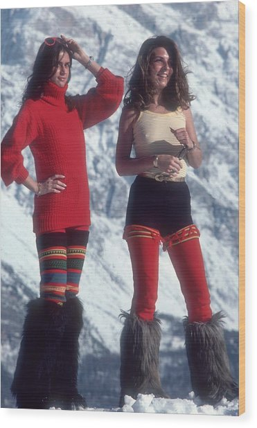 Winter Wear Wood Print by Slim Aarons