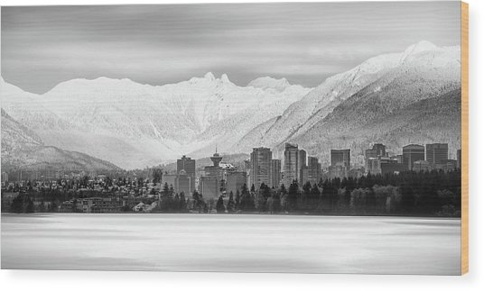 Winterscape Vancouver Wood Print