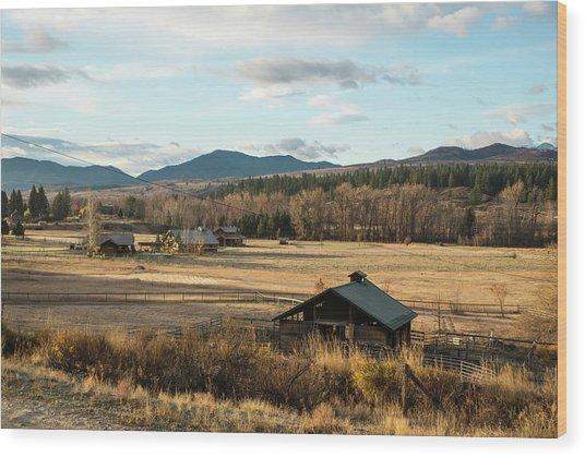 Winthrop Morning Pastures Wood Print