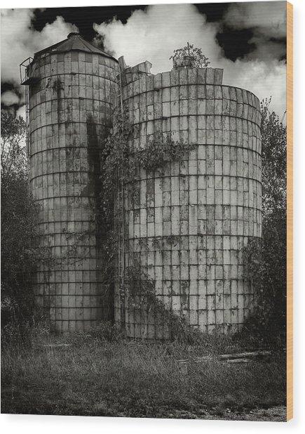 Wisconsin Silo Wood Print