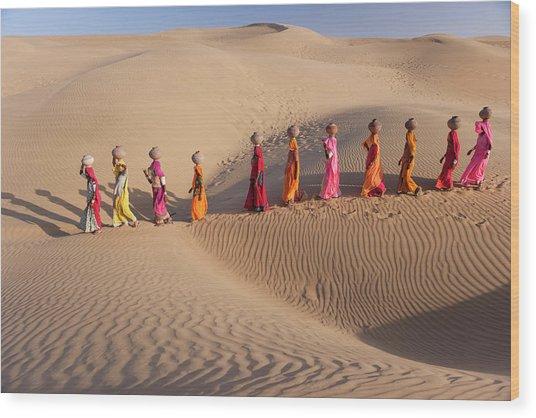 Women Fetching Water From The Sparse Wood Print by Mint Images - Art Wolfe
