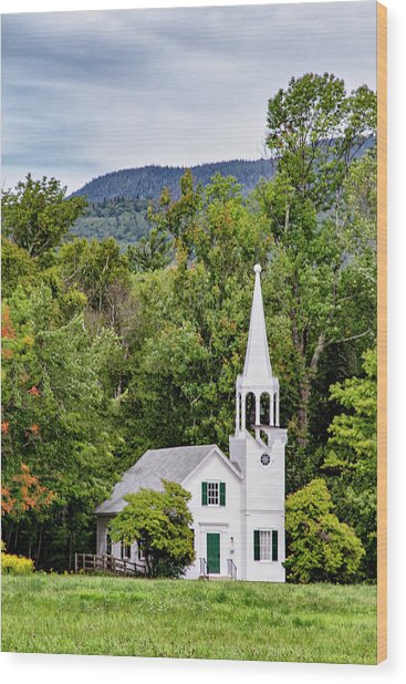 Wonalancet Union Chapel Wood Print
