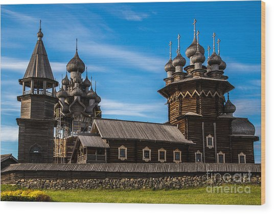 Wooden Architecture Nordic Countries Wood Print