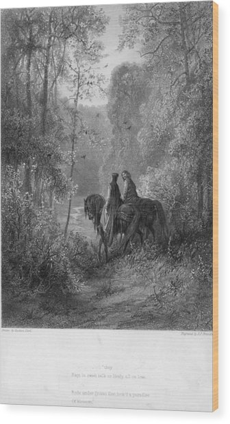 Woodland Lovers Wood Print by Hulton Archive