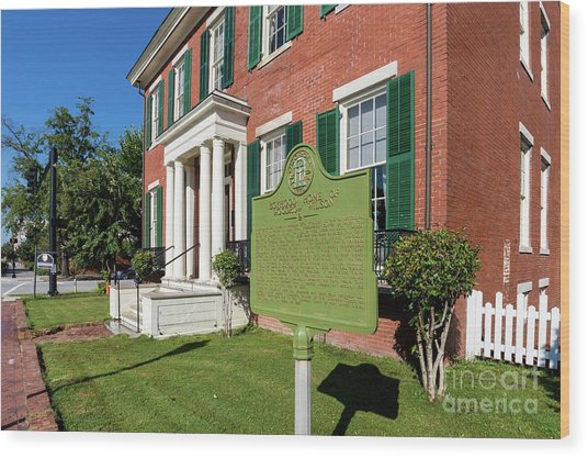Woodrow Wilson Boyhood Home - Augusta Ga 1 Wood Print