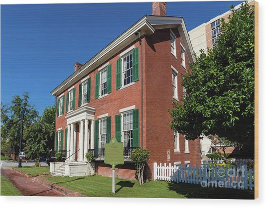 Woodrow Wilson Boyhood Home - Augusta Ga 2 Wood Print