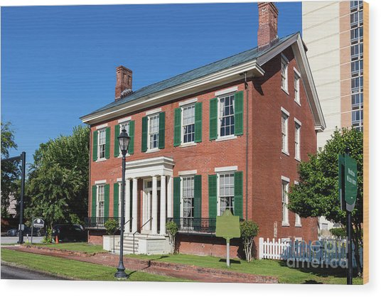 Woodrow Wilson Boyhood Home - Augusta Ga 3 Wood Print