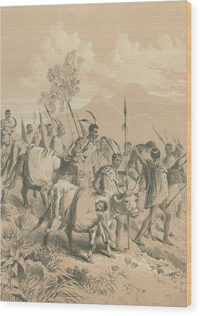 Wounded Fighters Wood Print by Hulton Archive