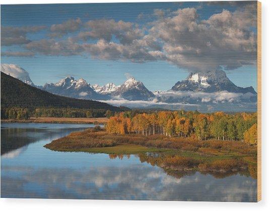 Wyoming, Grand Teton Np, Snake River Wood Print