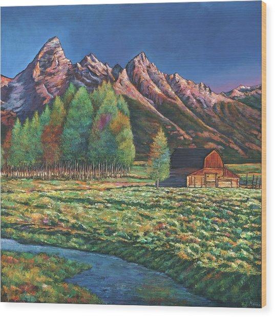 Wyoming Wood Print