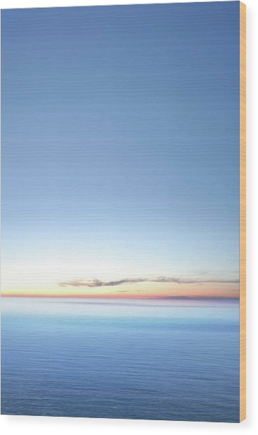Xxxl Serene Twilight Lake Wood Print by Sharply done