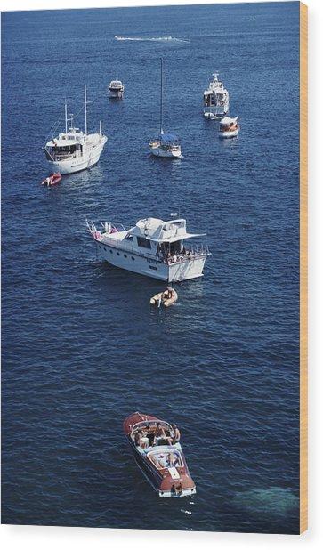 Yachting Holiday Wood Print