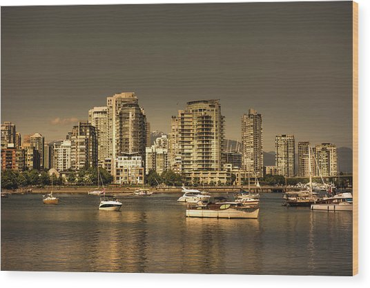 Yaletown Golden Hour Wood Print