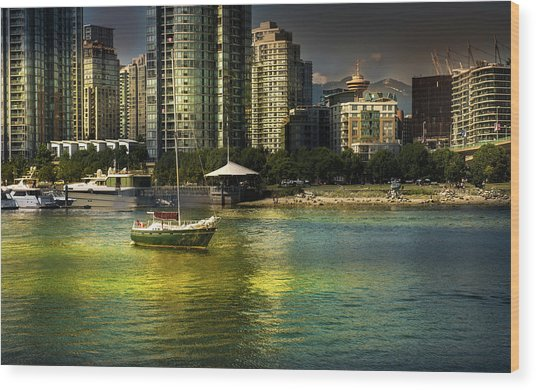 Yaletown Sunset Wood Print