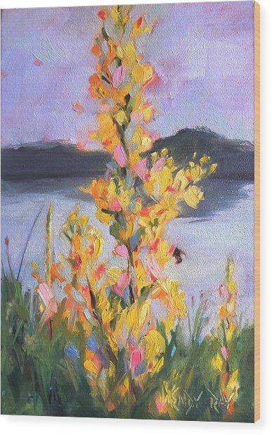 Yellow Blaze Wood Print